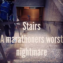 Stairs are the hardest!
