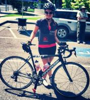 """At the """"Tour D' Organics"""" in Sebstopol, CA. All vegan/organic/local food on the course."""