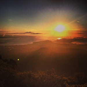 View from Mt. Tam at sunrise