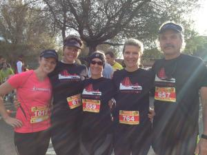 Me, April, Trish, Anne, and Al, before the run!
