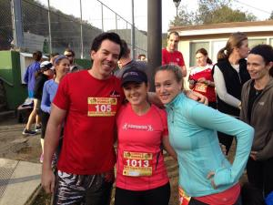 Rory, me, and Amy before the race