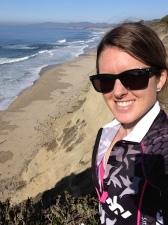 Post-ride enjoying the sunshine on the coast