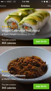 Zesty vegan options