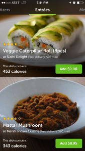 Zesty vegan options