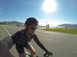 Biking in Tiburon