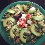 "Cafe Del Soul post-run lunch! Vegan ""quinoa cool"" with tofu."
