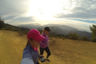 Tami and I on our Mt. Tam trail run