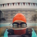 At the pool