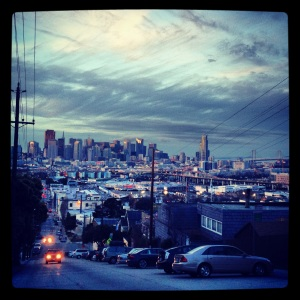 Skyline and Bay Bridge from Potrero Hill