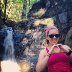 Pit stop #1 at Cascade Falls