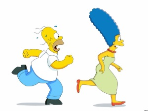 Homer and Marge running! photo credit: deviantart.com
