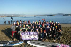 Group photo before jumping in the Bay!