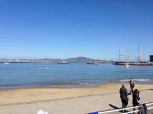 Aquatic Park - gorgeous day! Freezing bay!