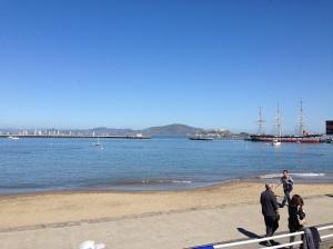 Aquatic Park - gorgeous day! Freezing bay!