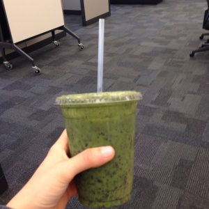 Almost every afternoon I have a kale smoothie as a snack