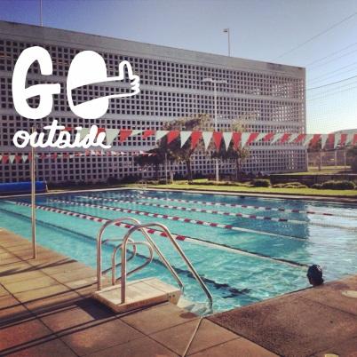 Friday evening swim. Beautiful day!!