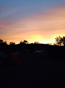 Sunset from our campsite