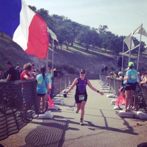 Finisher's chute! Thanks for the photo, coach Kim!