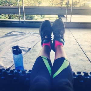 Monday foam rolling session