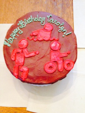 Birthday cake! (I also had a separate vegan cupcake).