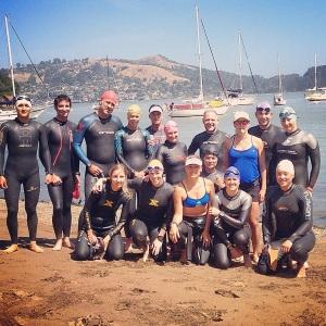 Team photo before swimming