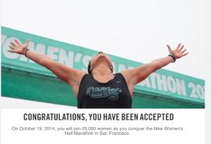 I got into Nike!