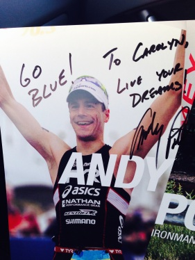 """To Carolyn, Live Your Dreams"""