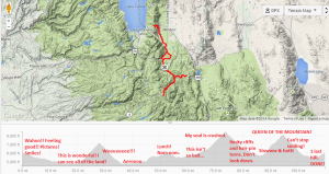 Annotated elevation map