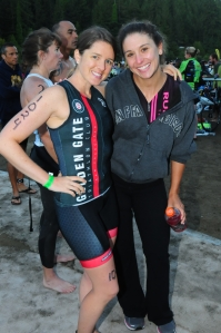 Chrissy and I before the start