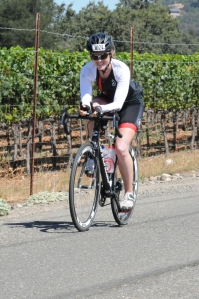Biking through vineyards. Beautiful!
