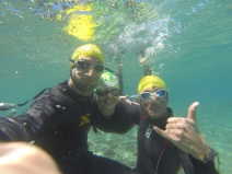 A little underwater fun after our workout :-)