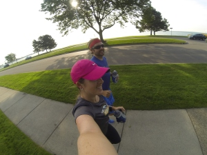 Running with my brother along Lakeshore