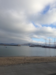 Aquatic Park at 8am, ready to swim!