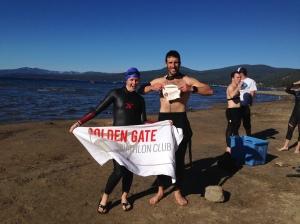 Swim clinic, representing Golden Gate Tri Club