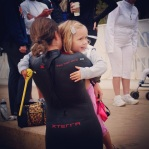 Crying into my nieces shoulder. She made me feel so much better.