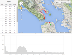 Run map and elevation chart