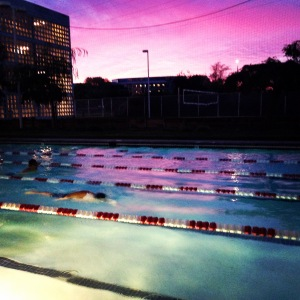 Evening swim. Beautiful sky!