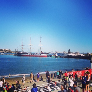 Aquatic Park on Sunday morning and the US Half Marathon