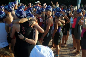 Hugs before the race start