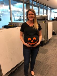 Swallowed a pumpkin